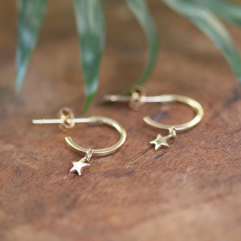 LUNA Gold Evelyn Star Earrings