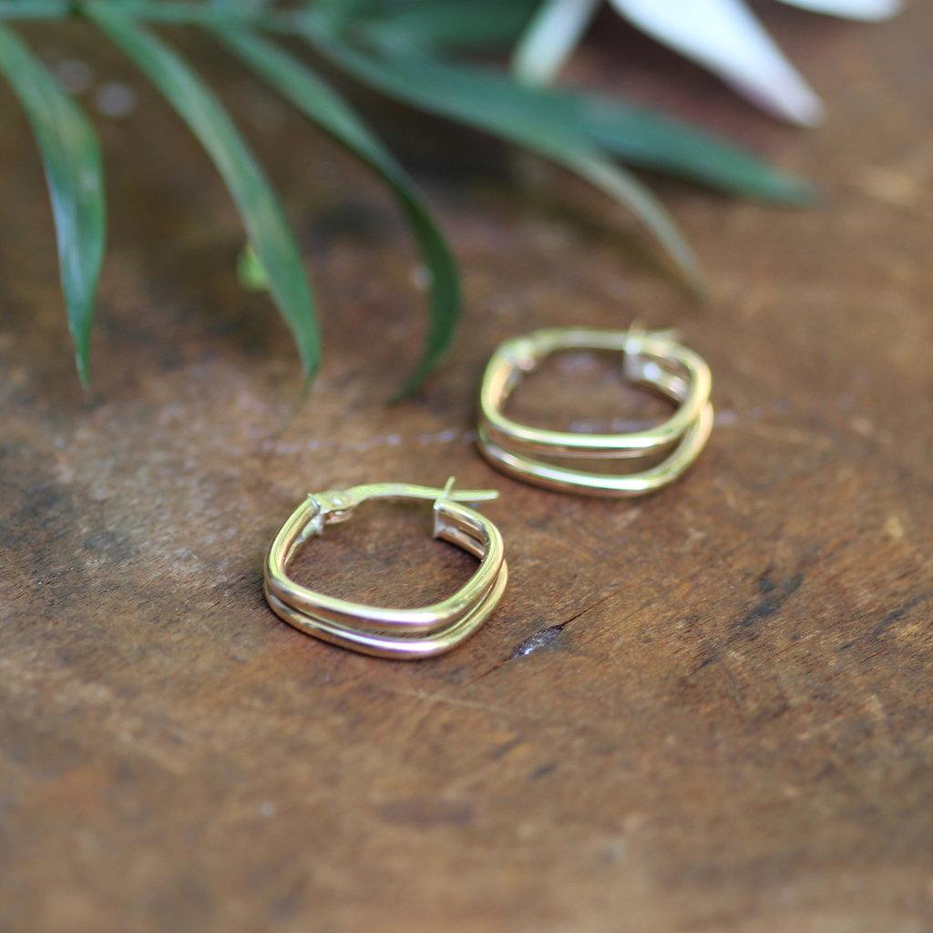 BOHO Gold Lola Geo Hoop Earrings