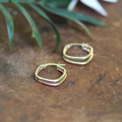 Joulberry Gold Lola Geo Hoop Earrings