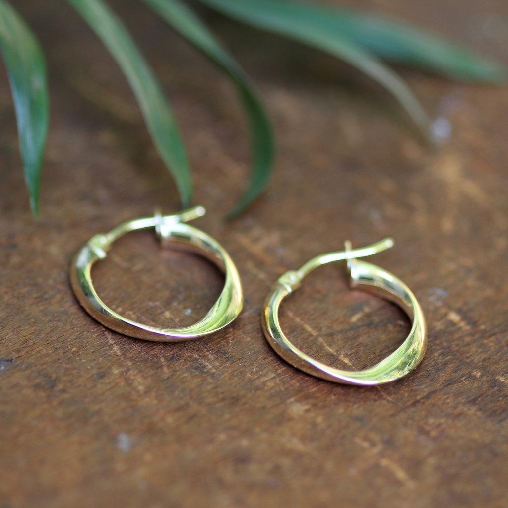 Joulberry Gold Flo Petite Hoop Earrings