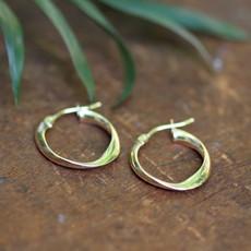 Gold Flo Petite Hoop Earrings