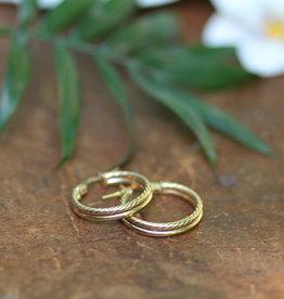 Joulberry Gold Lola Double Twist Hoop Earrings