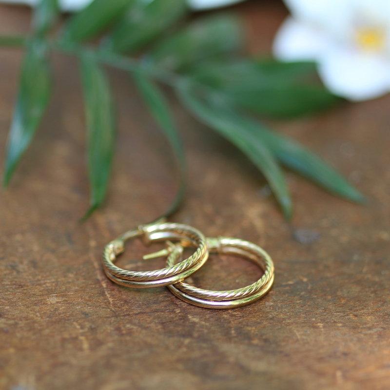 BOHO Gold Lola Double Twist Hoop Earrings