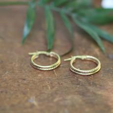 Gold Lola Double Twist Hoop Earrings