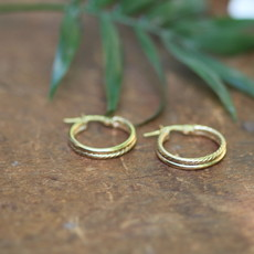 Joulberry Gold Lola Double Round Hoop Earrings