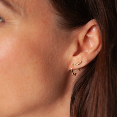 BOHO Gold Evelyn Tri Beaded Earrings