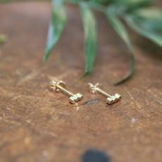 Gold Hive Bar Earrings