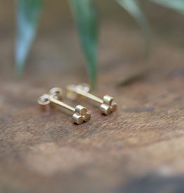 Joulberry Gold Hive Earrings