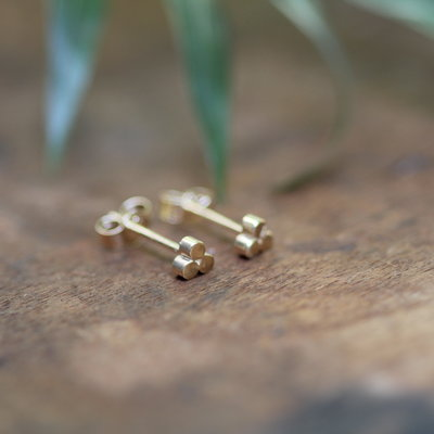 Gold Hive Earrings