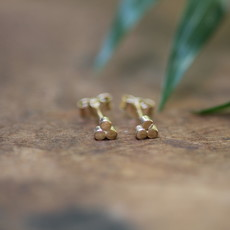 Gold Hive Earrings