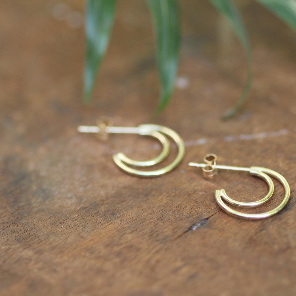 LUNA Gold Moon Silhouette Earrings