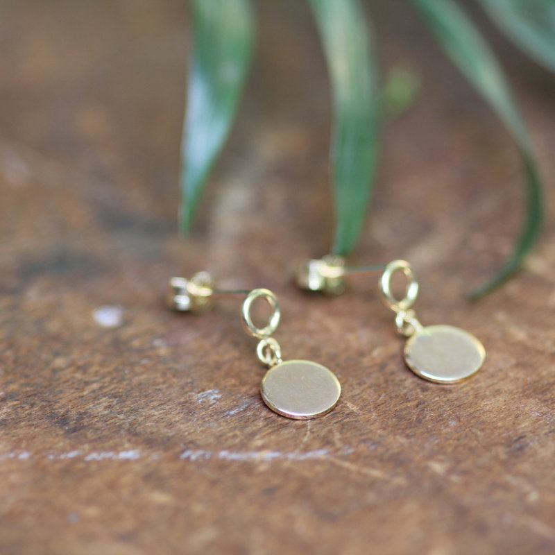 MADISON Gold Catherine Disc Earrings