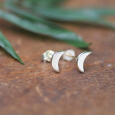 LUNA Gold Moon Crescent Earrings