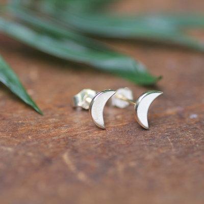 Golden Moon Crescent Earrings
