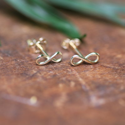 Joulberry Golden Infinity Earrings
