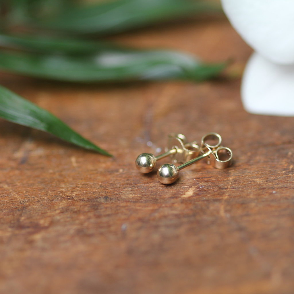 Golden Ball Earrings