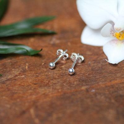 Joulberry Silver Ball Earrings