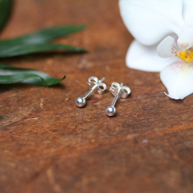 MADISON Silver Ball Earrings