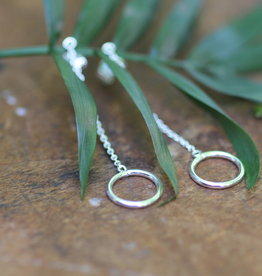Joulberry Silver Ring Chain Dangly Earrings