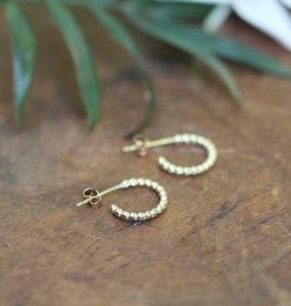 Joulberry Gold Lilly Hoop Earrings