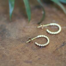 Gold Lilly Hoop Earrings
