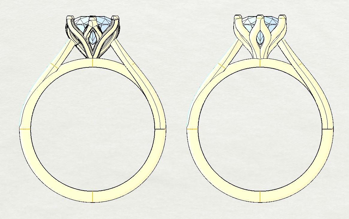 Bespoke_1carat_Floral_Solitair_Diamond_Ring_Cad_Design