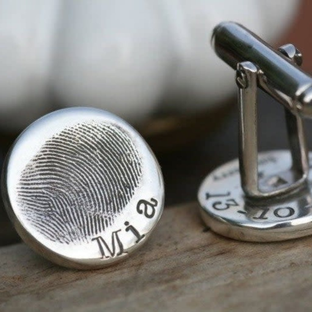 Fingerprint Coin Cufflinks