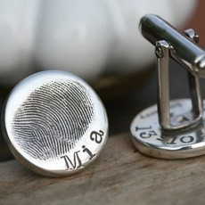 Joulberry Fingerprint Coin Cufflinks