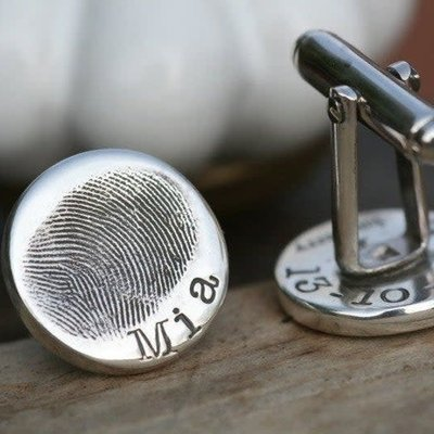 Joulberry Fingerprint Coin Cufflinks