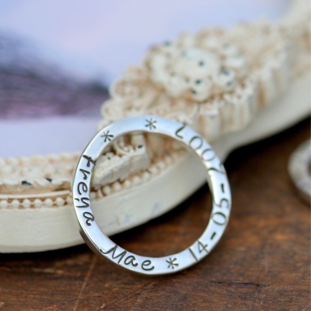 Joulberry Personalised Slender Ring