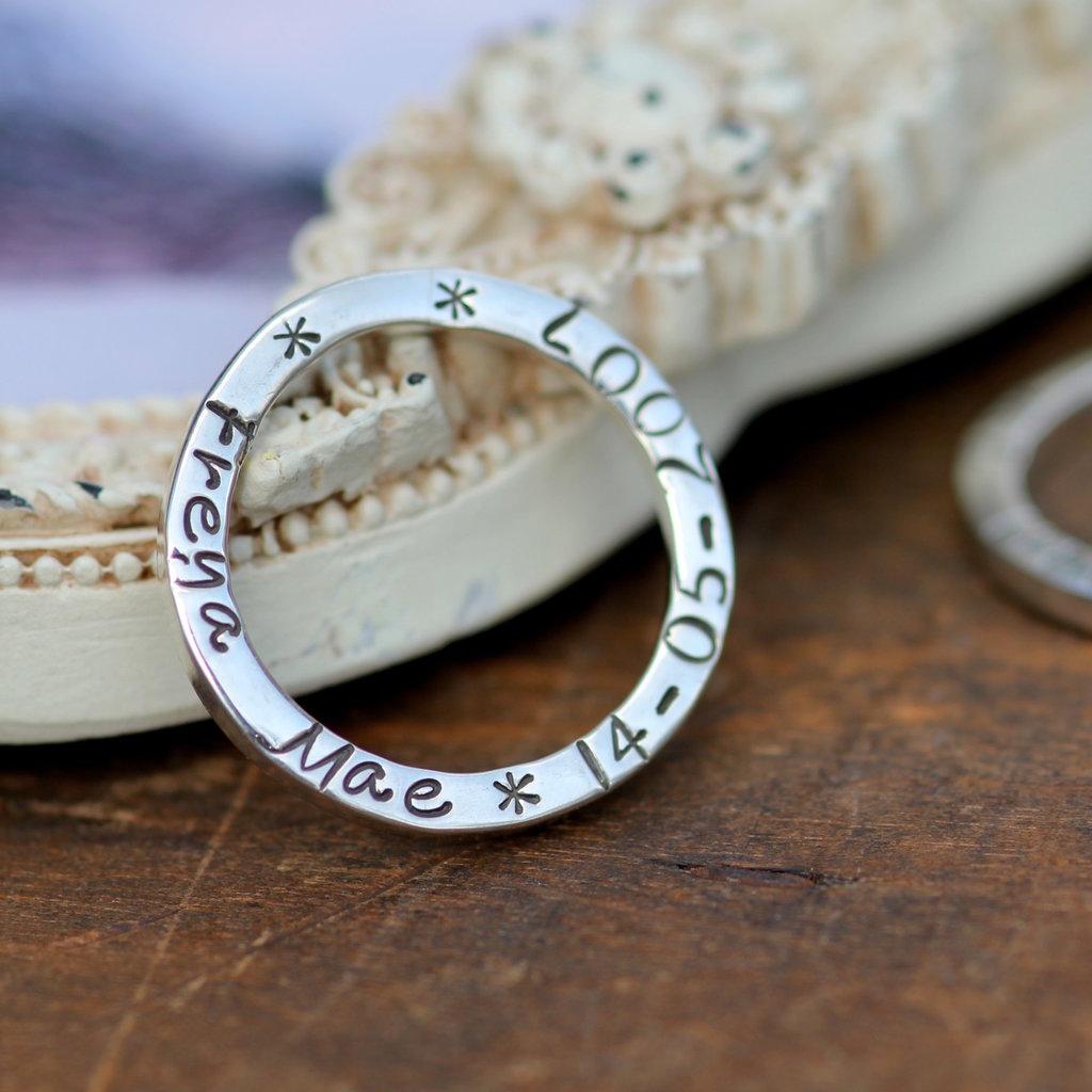 PERSONALISED Slender Ring