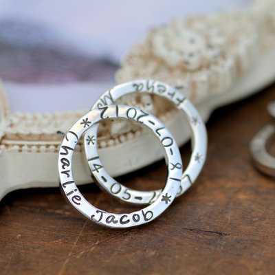Joulberry Personalised Duo Slender Rings