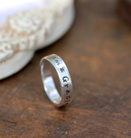 Joulberry Personalised Silver Semplice Ring