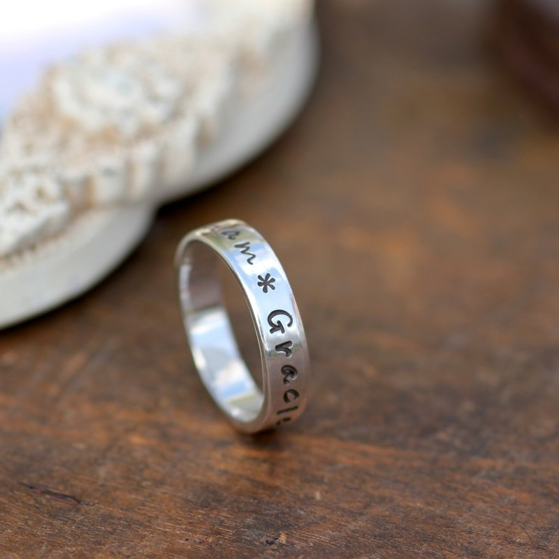 PERSONALISED Silver Semplice Ring