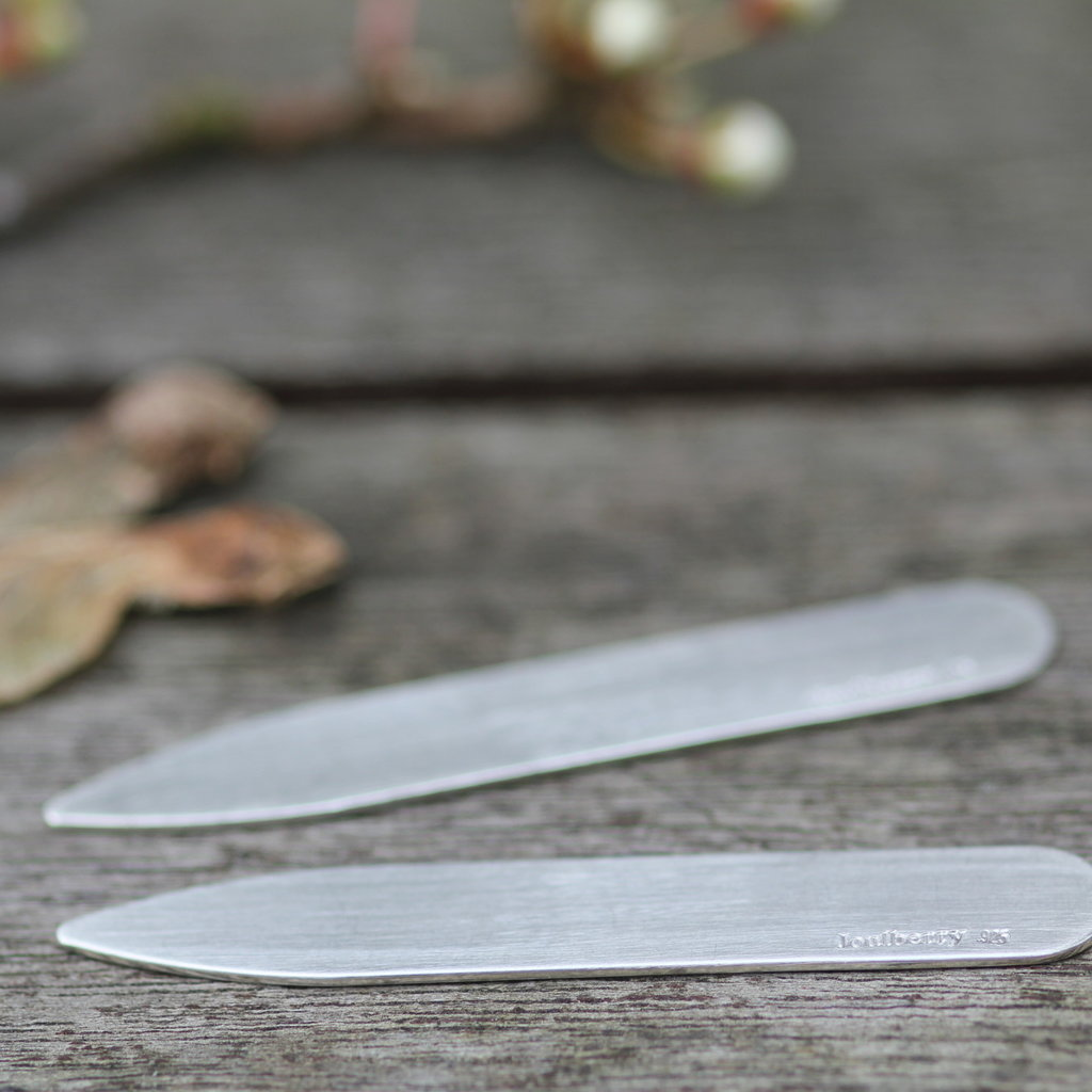 Joulberry Shadow Silver Collar Stiffeners