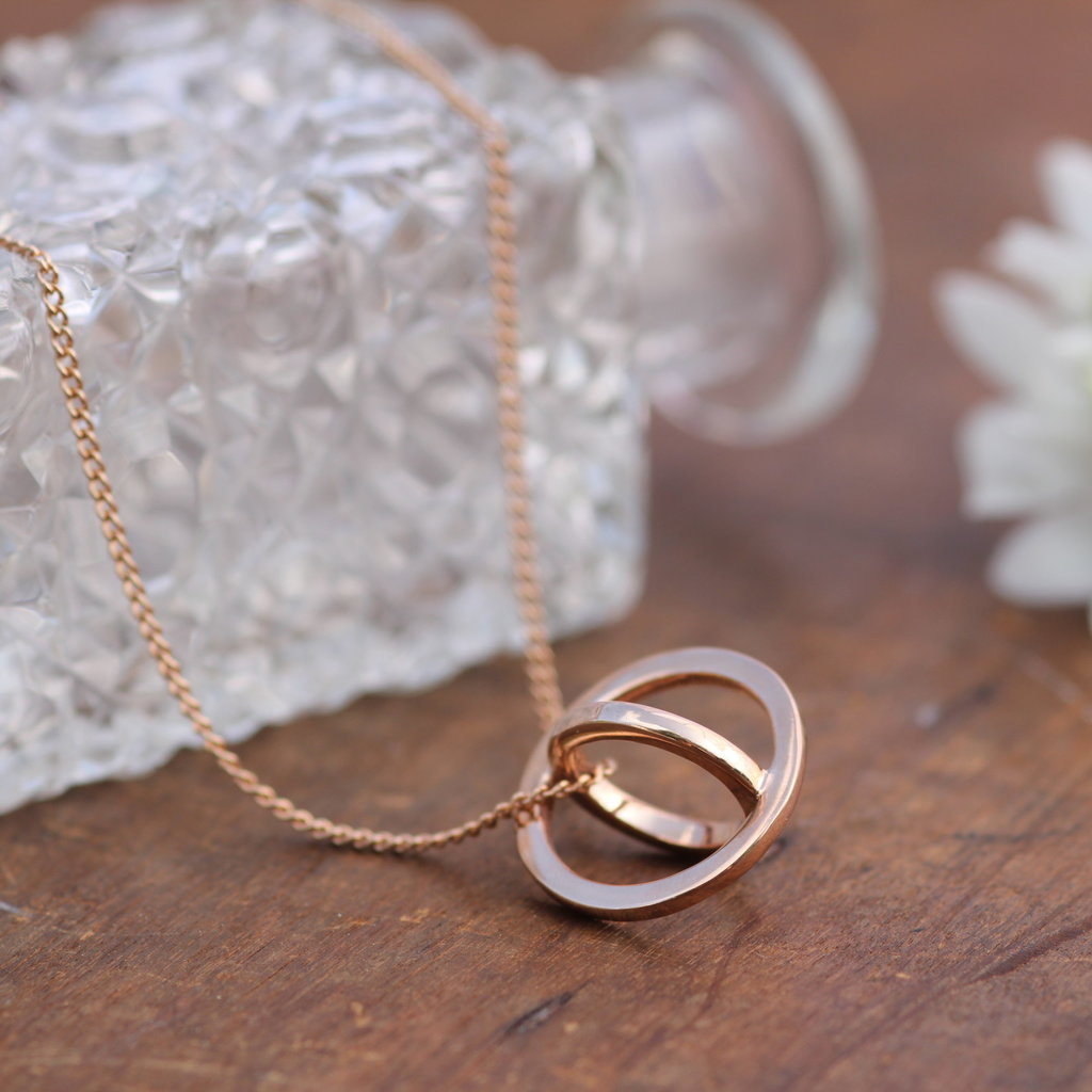 Rose Gold Sphere Necklace