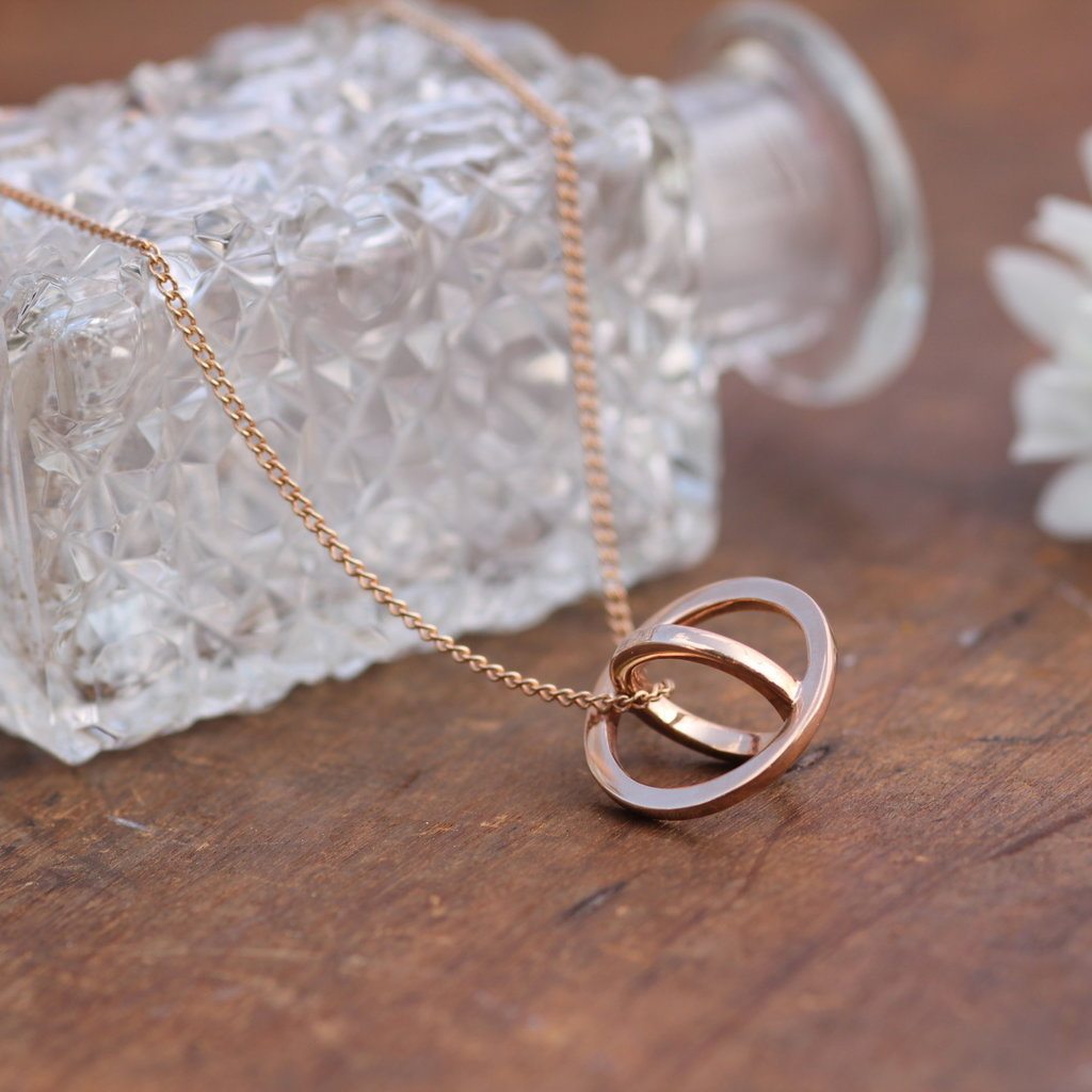 Joulberry Rose Gold Sphere Necklace