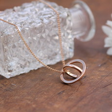 KENSINGTON Rose Gold Sphere Necklace