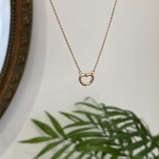 Rose Gold Silhouette Heart Necklace