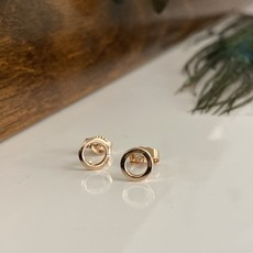Rose Petite Silhouette Circle Earrings