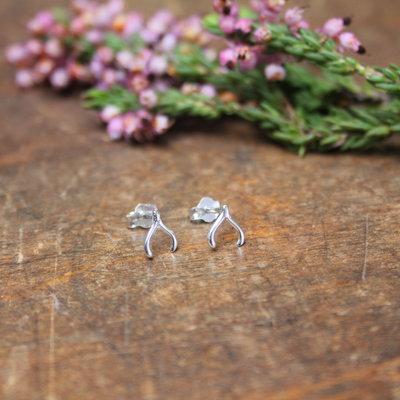 Silver Wishbone Earrings