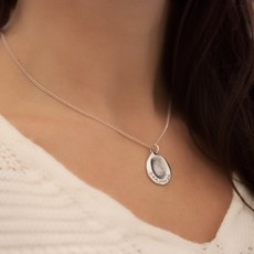 Joulberry Fingerprint Teardrop Necklace