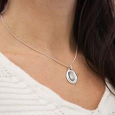Joulberry Fingerprint Oval Necklace