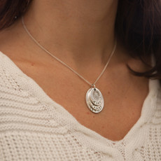 Joulberry Fingerprint Oval Trio Necklace