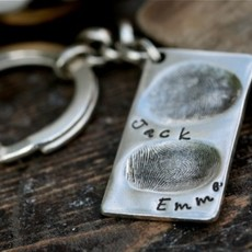 Joulberry Fingerprint Double Tag Key Ring
