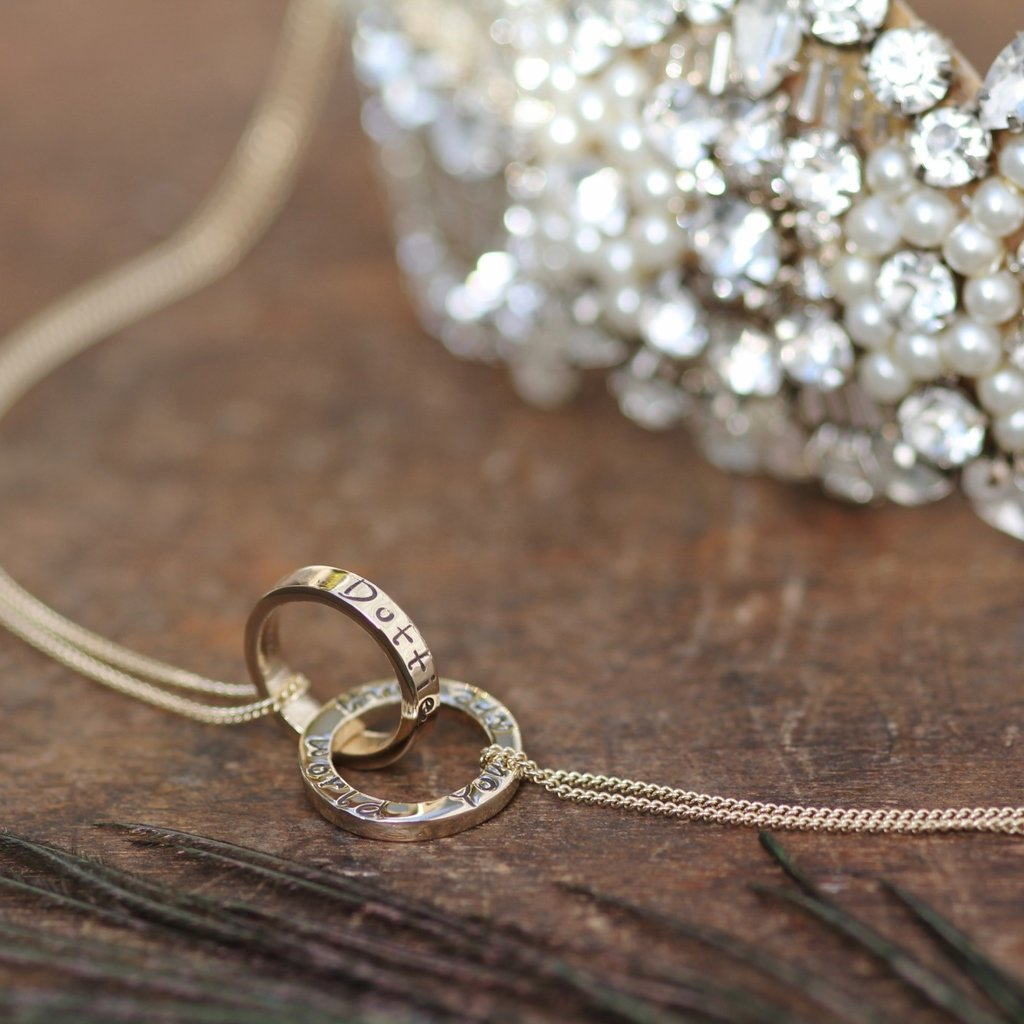 Personalised Gold Infinity Necklace