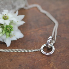Personalised Silver Infinity Necklace