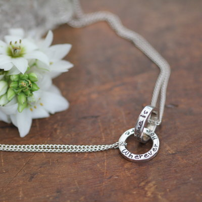 Joulberry Personalised Silver Infinity Necklace