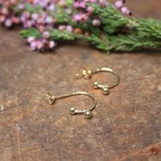 Gold Evelyn Bead Earrings