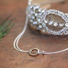 Joulberry Personalised Silver and Gold Infinity Necklace